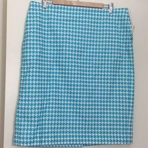 Talbots Herringbone Pencil Skirt